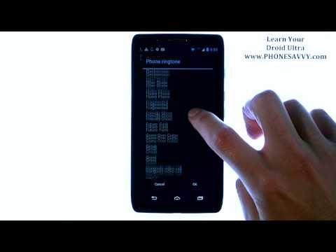 Motorola Droid Ultra - How Do I Change Ringtone