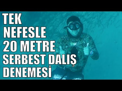 A freediving experience in Alanya-Turkey. The depth is about 20 meters.
