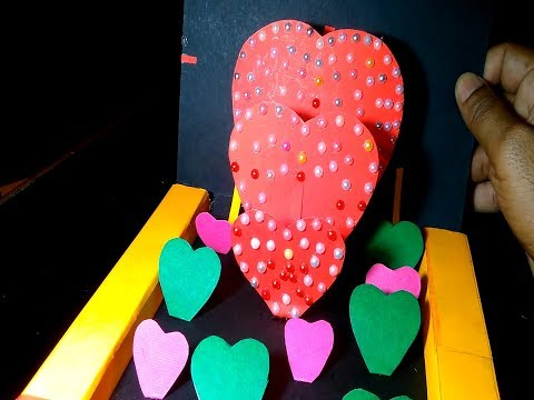 DIY- valentine's day gift box|| Paper heart card Gift || Make for Boyfriend/Girlfriend