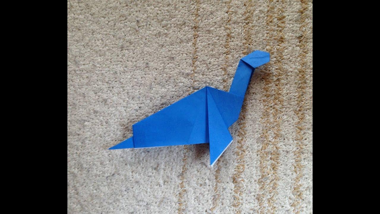 折り紙 恐竜 プレシオサウルス 折り方 作り方 How to make an Dinosaur ... - photo#1