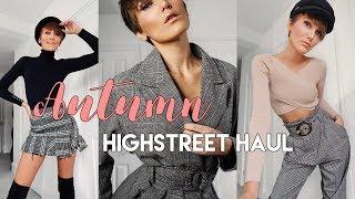 AUTUMN HIGHSTREET HAUL & TRY ON - ZARA, H&M, MANGO | Blaise Dyer