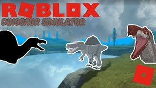 Roblox Dinosaur Simulator - Movie Spino Remake Progress! + Random Gameplay!