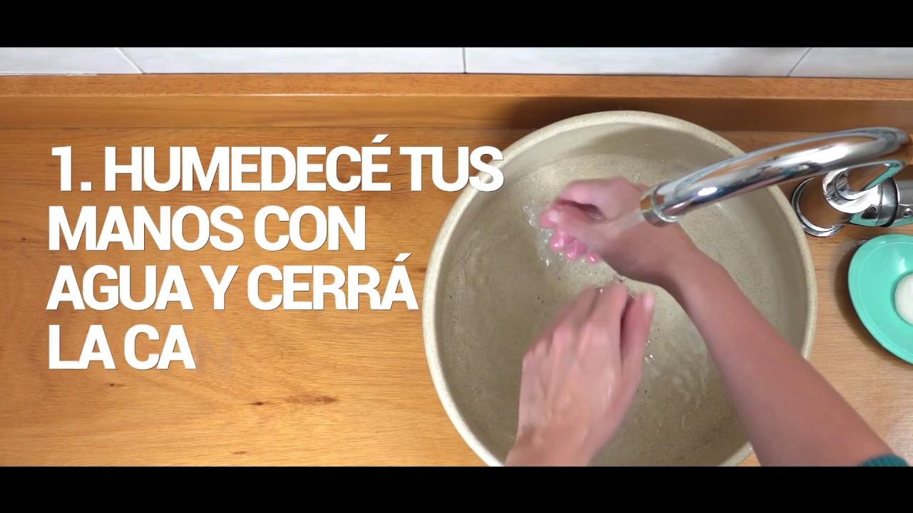 Los 5 pasos del lavado de manos