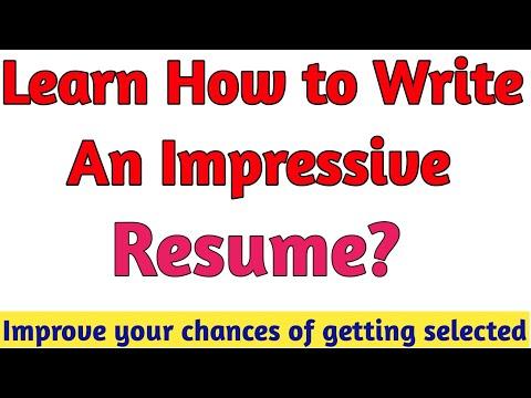 WRITE EFFECTIVE RESUME/BIO DATA/CV FOR JOBS/ASSISTANT PROFESSOR/ LECTURER/ TEACHER