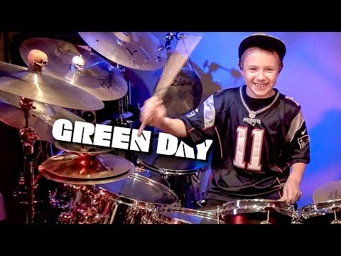 BASKET CASE - GREEN DAY (9 year old Drummer) Drum Cover by Avery Drummer Molek