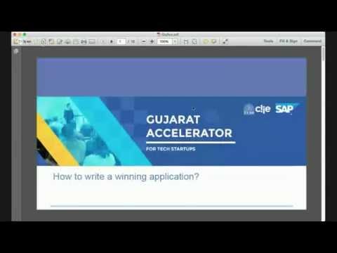 Gujarat Accelerator - How to write a winning Application