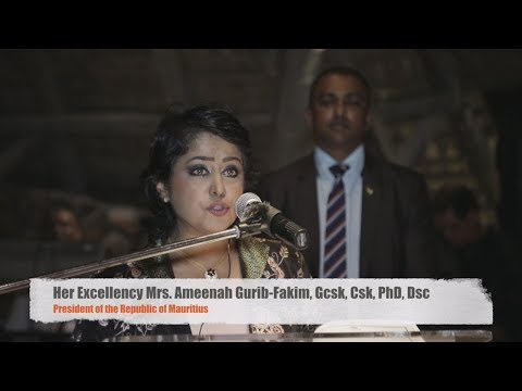 2017 GSSI Conference Mauritius - President Ameenah Gurib-Fakim Interview & Award Ceremony