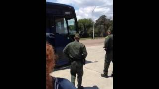 Bus Loads Of Illegals Being Escorted By Border Patrol into