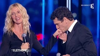 Marc Lavoine et Sandrine Kiberlain chantent