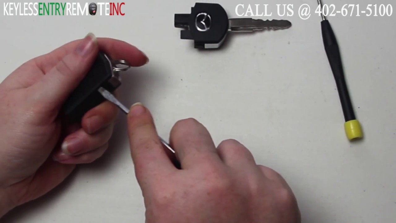 How To Replace A Mazda 3 Key Fob Battery 2010 2013 Youtube