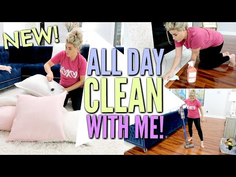 ALL DAY CLEAN WITH ME | CLEANING MOTIVATION w CLEANING MUSIC | Love Meg