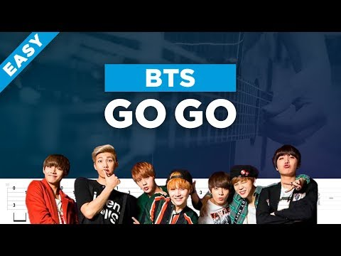 BTS GO GO acoustic guitar cover, chords and tab