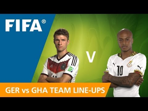 Germany v. Ghana - Teams Announcement
