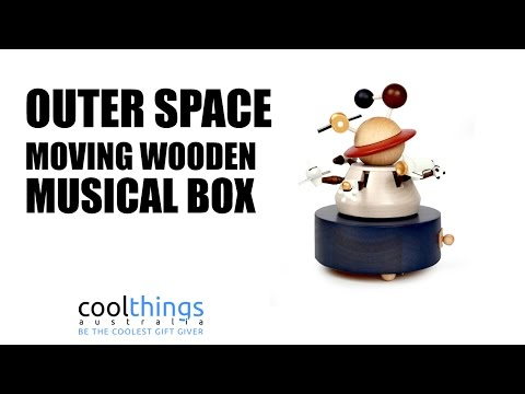 Outer Space Wooden Musical Box | Wooderful Life