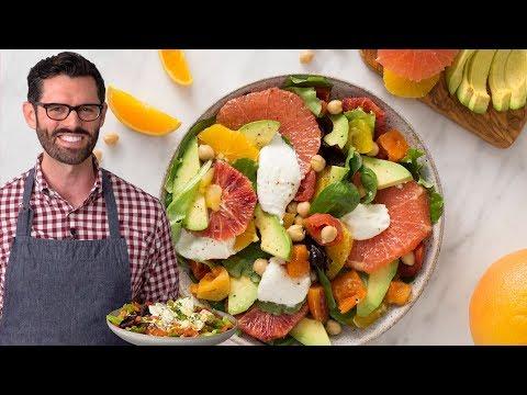 Avocado Salad with Tomatoes Citrus and Burrata