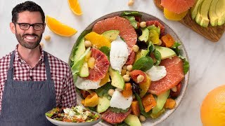 Avocado Salad with Tomatoes Citrus and Burrata