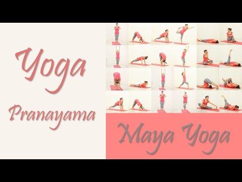 Yoga for beginners: Practice Yoga At Home. Breathing Exercises. Pranayama.