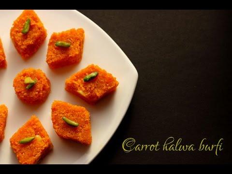Carrot halwa burfi