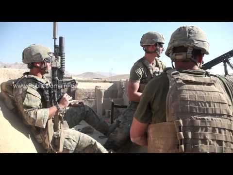 Operation Eastern Endeavor - Firefight Counter Insurgency Sangin, Afghanistan archival footage
