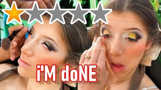 THE WORST REVIEWED MAKEUP ARTIST GLUED MY EYES SHUT