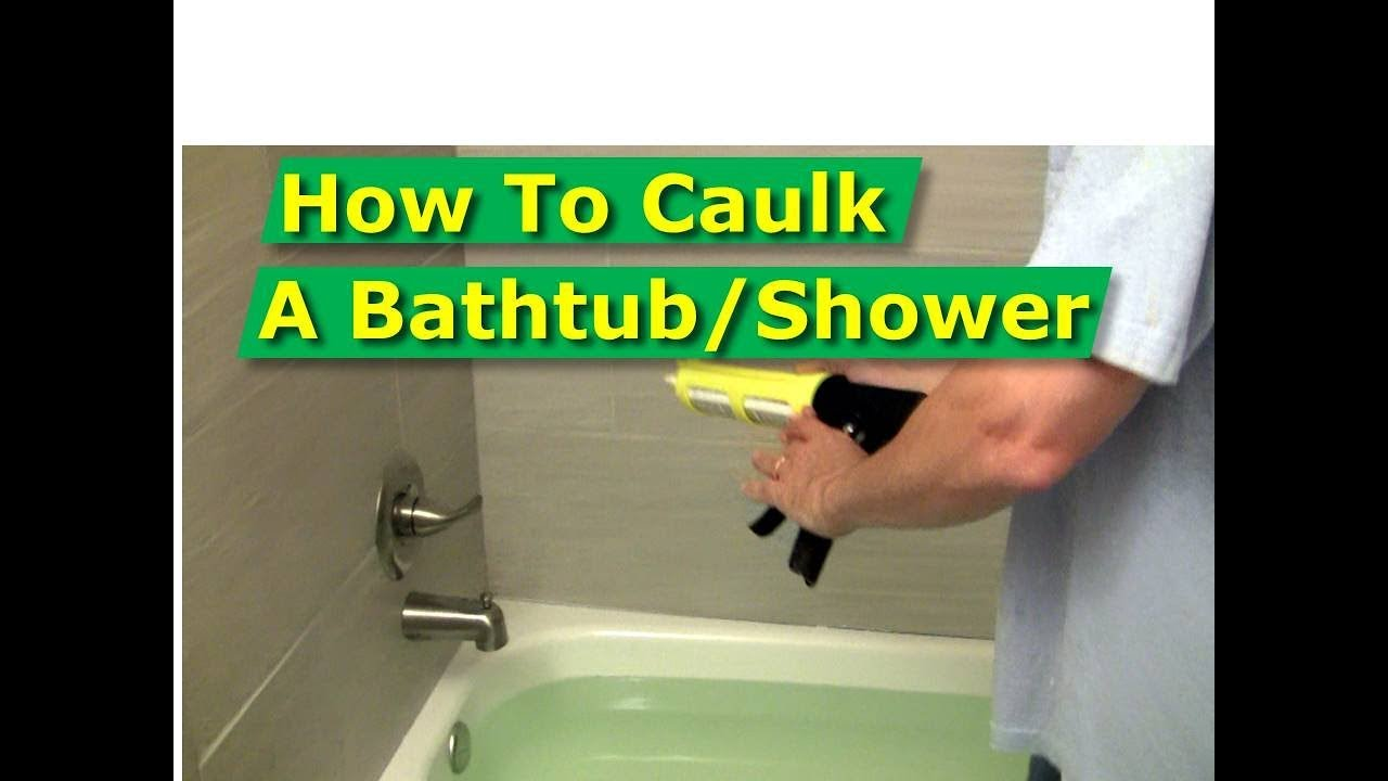 How To Caulk Bathtub Surround Tiles Perfectly Straight Lines YouTube - Best caulk for bathtub surround