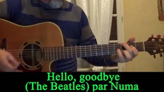 Hello, goodbye (The Beatles ) acoustic guitar cover HD