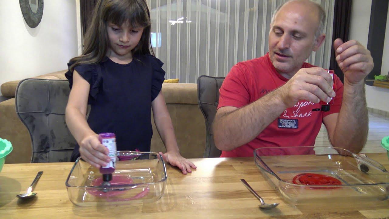 Havuzdan Çıkan Malzemelerle Slime Challenge! Prenses Lina