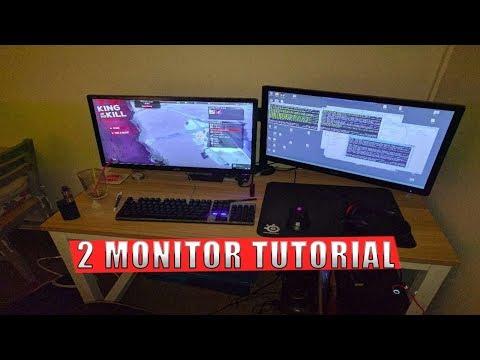 cara tergampang menghubungkan 2 monitor ke 1pc 2020.