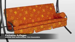 Trend Hollywoodschaukel Design Korfu terra - Hollywoodschaukel Paradies