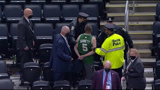 Fan Throws Water Bottle At Kyrie Irving And Gets Escorted Out Of TD Garden