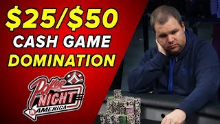 Kyle Bowker DOMINATES This $25/$50 Cash Game! | S5 E34 Poker Night in America