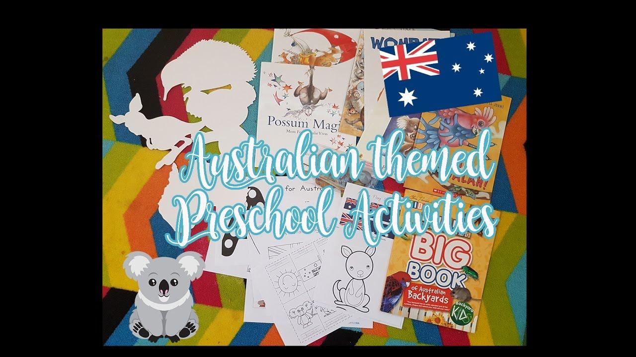 Australia Themed Preschool Activities at Home - Week 1 - YouTube