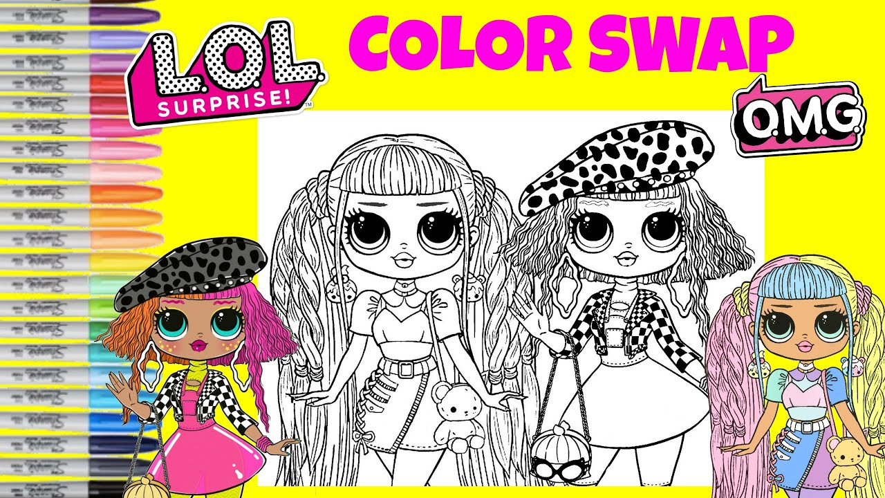 Lol Surprise O M G Dolls Coloring Book Color Mix Up Candylicious Neonlicious Lol Surprise Makeover Youtube