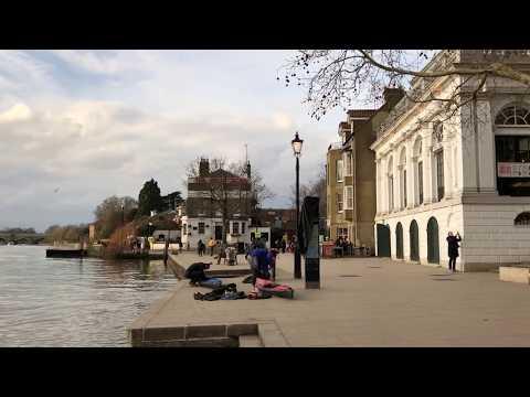 enjoying Richmond on the Thames, London (2-18-18)