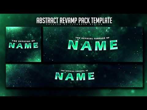 Free Abstract Revamp Pack Template YouTube Banner Twitter Header Avatar
