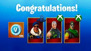 "How To Unlock PS4 AND XBOX EXCLUSIVE ""FREE"" SKINS - (Fortnite Battle Royale)"