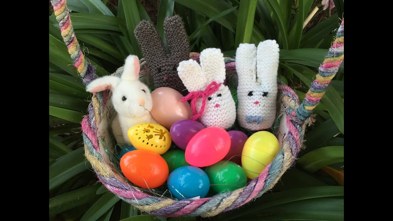 KNITTING TUTORIAL-EASTER BUNNY EGG COZY - YouTube for Real Easter Bunny With Eggs  150ifm