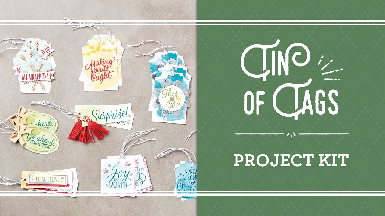 Tin Of Tags Project Kit By Stampin Up YouTube