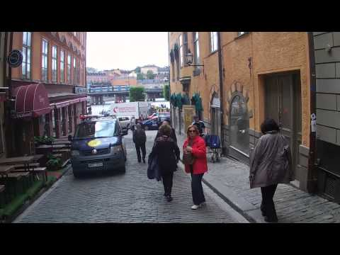 Walking around Gamla stan Stockholm, Sweden