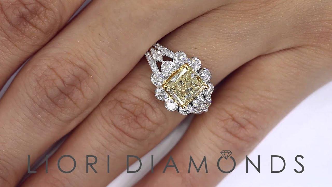Unique Wedding Rings Radiant Cut