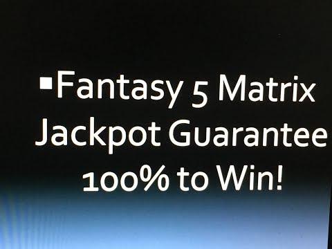 Fantasy 5 Winning Lottery Jackpot Strategy Matrix Wins!