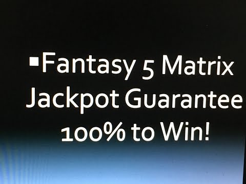 Fantasy 5 Winning Lottery Jackpot Strategy Matrix Wins!