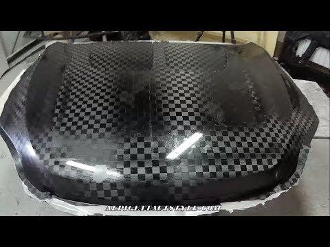 видео: Карбон-Стеклопластиковый капот Toyota RAV4 -карбоновая часть/Custom Fiberglass Hood-carbon part