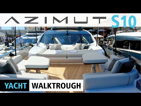 AZIMUT S10 YACHT WALKTROUGH | CANNES BOAT SHOW