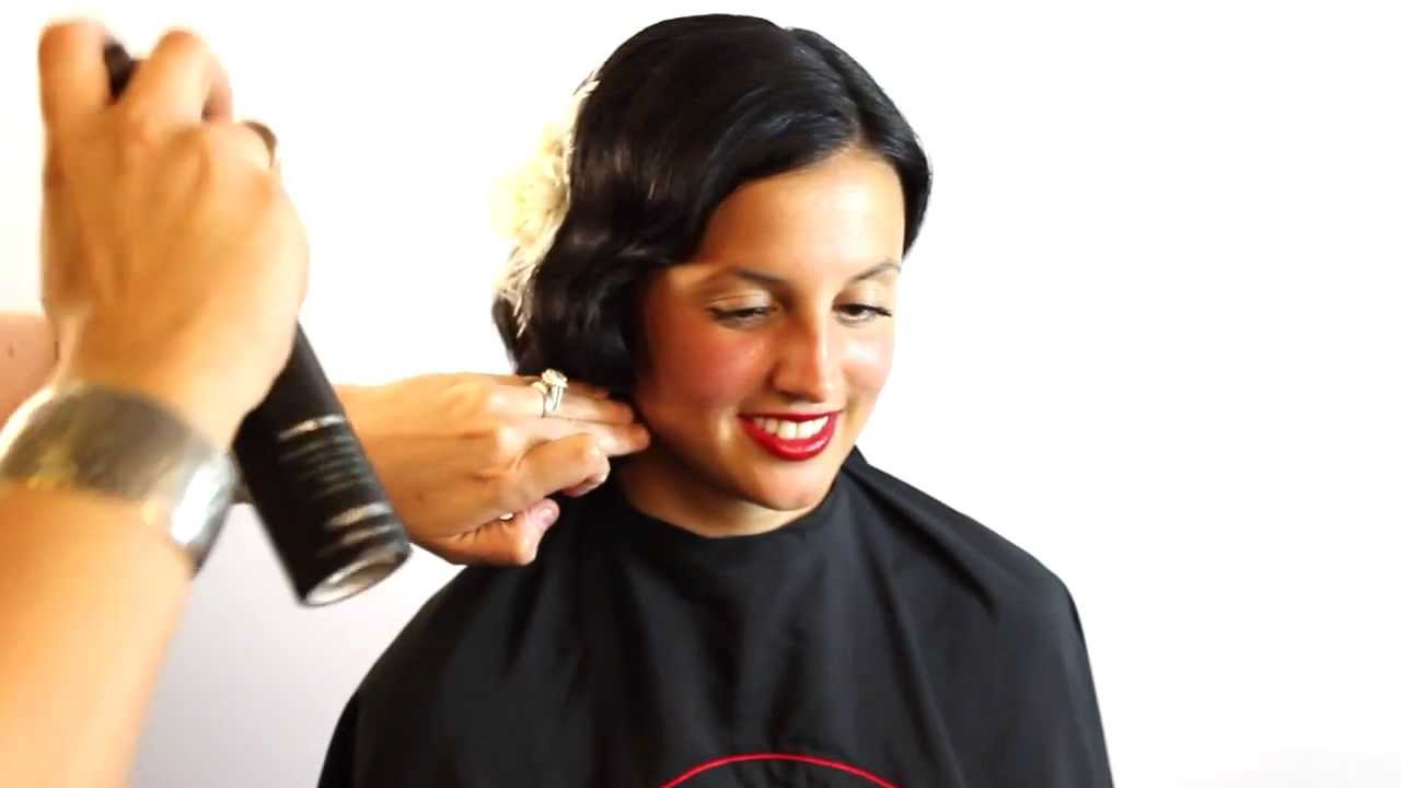 Easy Finger Wave Set Vintage Hair Style featuring Barrett Stillitano of Gratitude Education