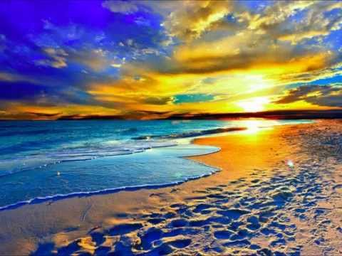 colorful landscapes beach sunset