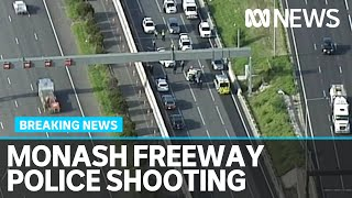 Armed man shot and killed by police on Monash Freeway | ABC News