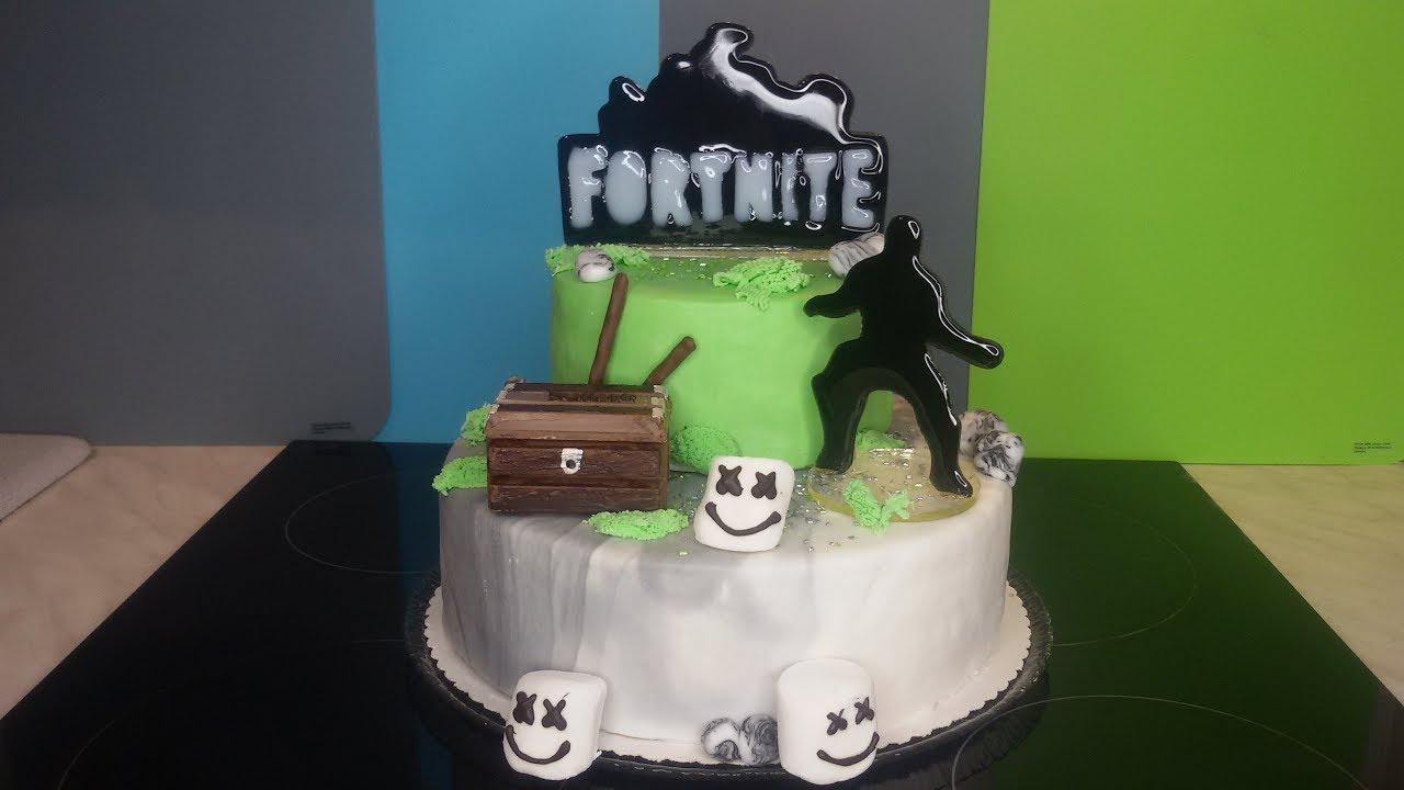 Fortnite Torte cake Geburtstagskuchen Isomalt Kuchen