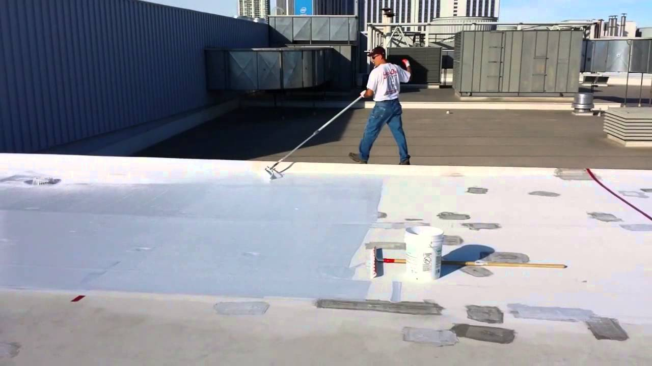 How To Install SmartRoof Silicone Roof Coating Roller Application Best Roof  Coating Miami Dade Rated