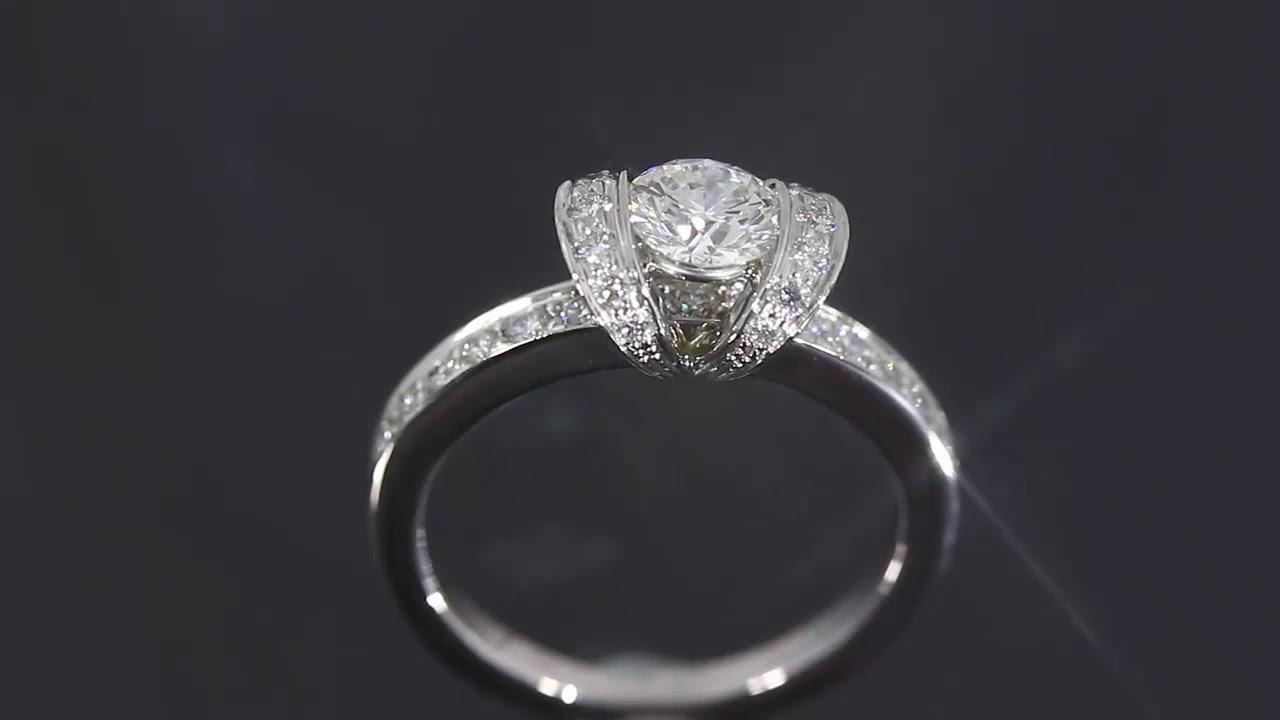 quality design 3fe53 b9489 ティファニー リボンリング・ダイヤモンド(エンゲージ・マリッジ)指輪/Pt950-4.7g/0.44ct/6.5号/プラチナカラー/TIFFANY &  Co. ■213655